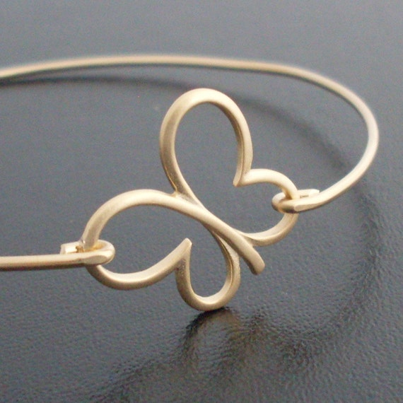Bangle Bracelet Sweeping  Butterfly - Gold