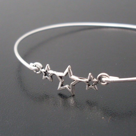 May The 4th Be With You Necklace: Star Bracelet Star Bangle Star Jewelry 4th Of July