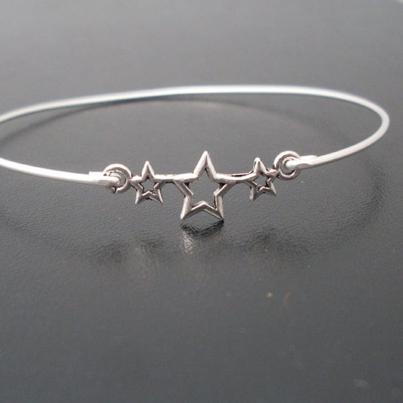Star Bracelet, Star Bangle, Star Jewelry, 4th of July Bracelet, 4th of July Jewelry, July 4th Jewelry, Patriotic Jewelry, Patriotic Bracelet