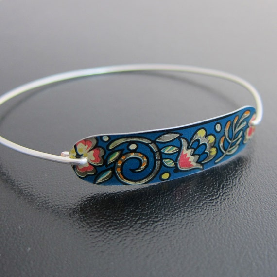 Modern Vintage Bracelet, Sterling Silver Bangle Band, Mod Bracelet, Mod Jewelry, Mod Bangle, Vintage Modern, Unique Jewelry, Unique Bracelet