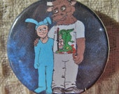 1 1/4 Inch Minotaur and Bunny Suit Pinback Button Pin
