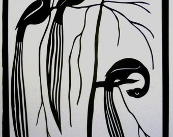 Three Birds Original Papercut
