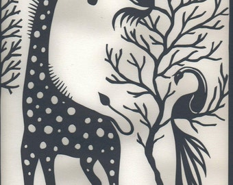 Giraffe Orginal Papercut Art