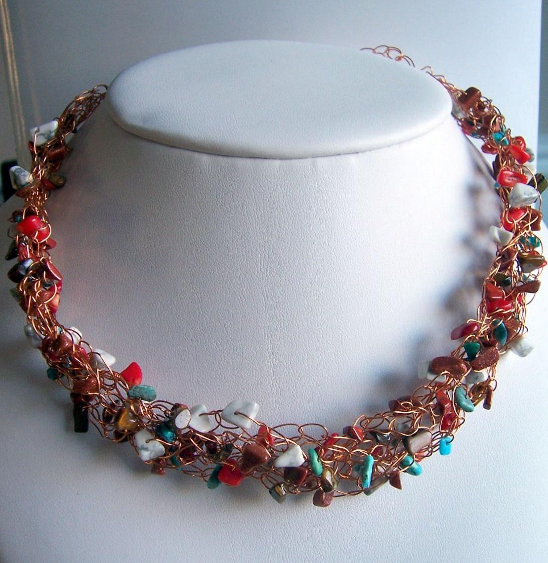 Choker Necklace Etsy: Wire Crochet Necklace Wire Crochet Jewelry By Starrydreams