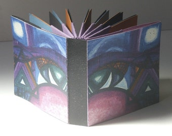 How to make Hedi Kyle's Blizzard Book (Folded Origami Fan Book) e-book tutorial, with Designer Cover No.1 - The Bridge