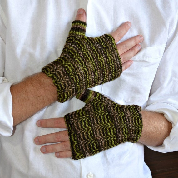 Men's wrist warmers camouflage