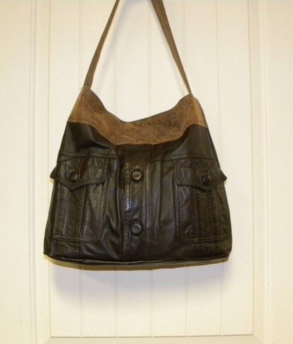 Recycle YOUR OWN Leather Jacket into a Beautiful Handbag - Purse - Tote - Hobo