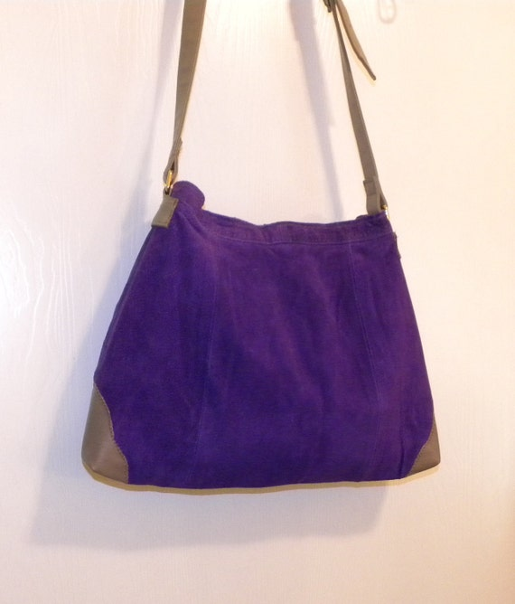 lowest - CLEARANCE PRICED - Handmade from a Purple Leather Skirt - Hobo Bag - Tote