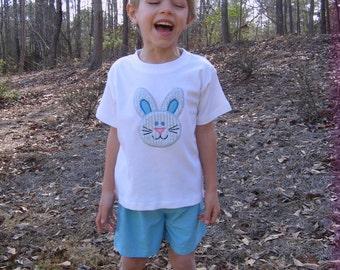Boys Easter Bunny Appliqued Shirt Sizes 12M-6