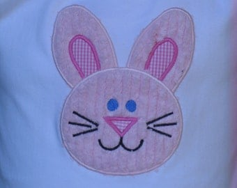 Girls Easter Bunny Appliqued Shirt Sizes 3/6M-12