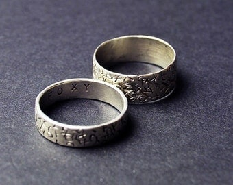 Hand Stamped Word Ring