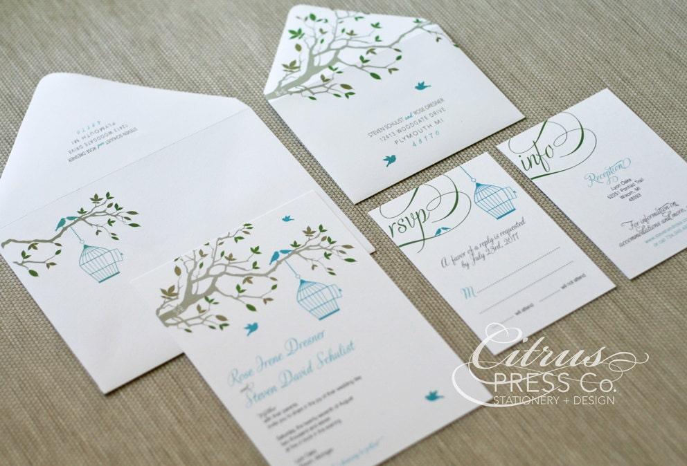 Wedding Invitations Birdcage: Birdcage Invitation Wedding Invite / Save The By CitrusPressCo