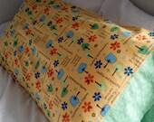 Yellow and Green King Pillowcase - Sold Individually