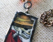 Day of the Dead Glass Pendant Necklace