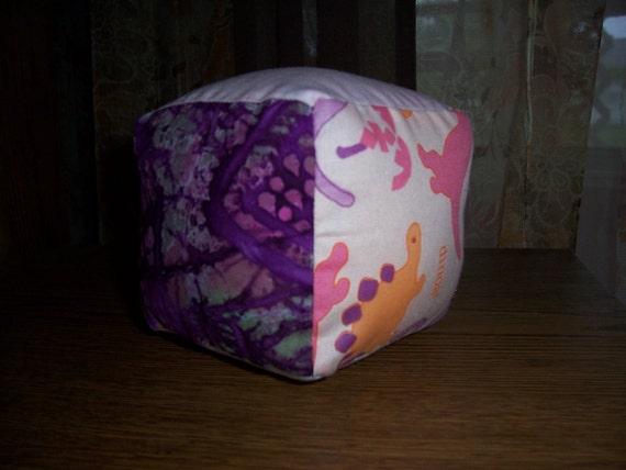 Sale girly pink tie dye dinosaur funky fabric stacking blocks for Girly dinosaur fabric