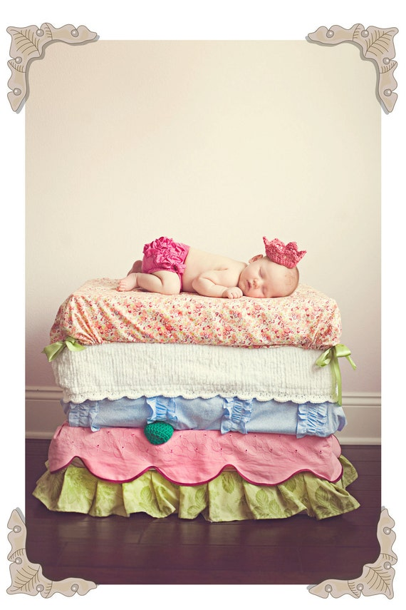 Princess and the Pea PHOTOGRAPHY PROP - Custom Baby 10-Mattress 5-Bedding Cover