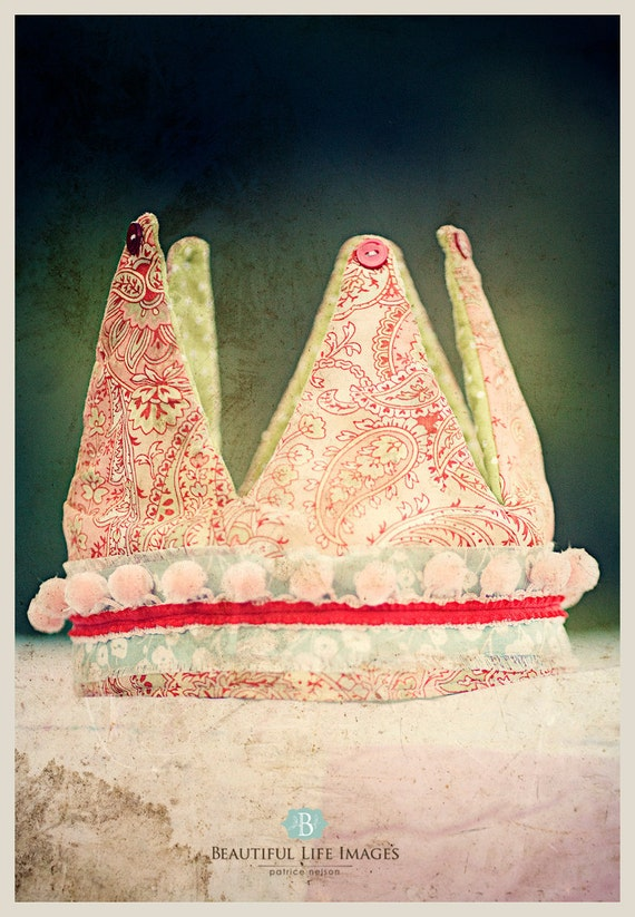Princess and the Pea Photography Prop Reversible Crown - Bella