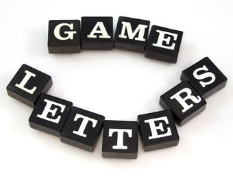 Black and White Game Letters - Choose your letters and quantity