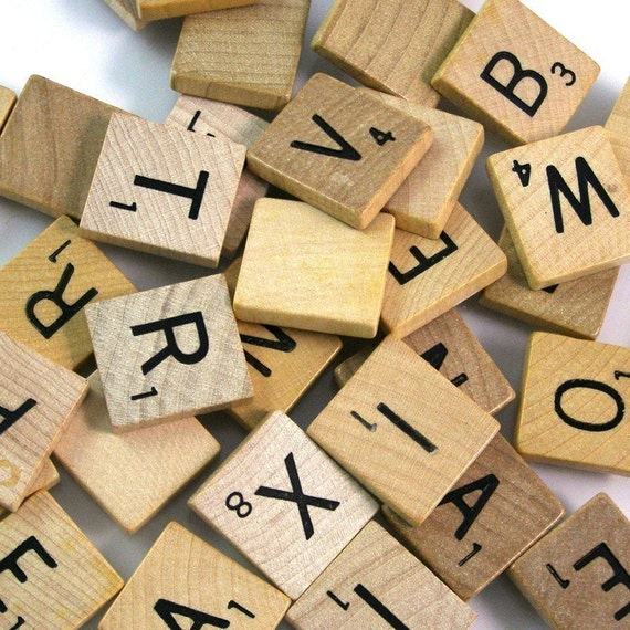 Scrabble letters bulk lot 100 letters for Bulk letters