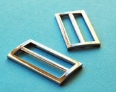 Set of two rectangular belt buckles - 2 inches