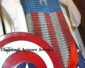 Captain America Chainmail Shirt - aluminium 6-in-1