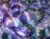 Merino/Tencel Roving  Hand dyed Purples - Teal 4 ounces