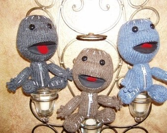 Sackboy Knit Pattern with expression-able mouth and bendable body