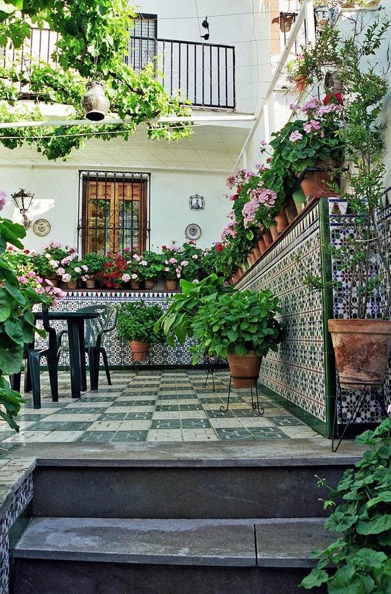 Spanish Courtyard 11 X 16 Fine Art Photograph By