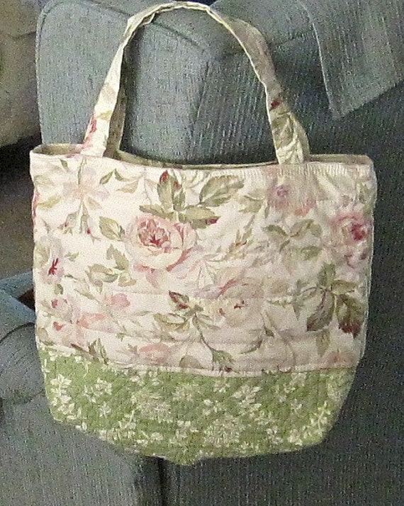 FREE SHIPPING all July coupon is HITTYHATTY1  Bag Pink Rose White Fern