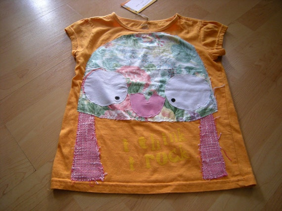 kids recycled tee - 7/8 years FERN FACE FREDA