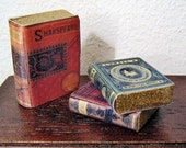 SHAKESPEARE & 2 POETRY BOOKS  Dolls House Miniatures 12th scale handmade