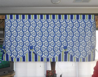 "SPECIAL ORDER ONLY -- Double Tier Scalloped Window Valance (42"")"