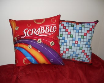 Scrabble - TWO Throw Pillow COVERS ONLY