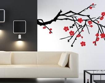 Blossom Branch bi color decorative vinyl graphic