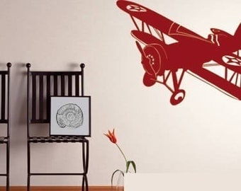 Old School Airplane Wall Decals