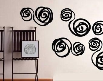 Brazilian Swirls wall stencils - set of 16