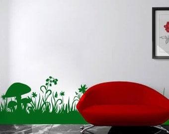 Herbs vinyl wall border - full color for Sarah Sun