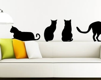 My cats removable wall stickers