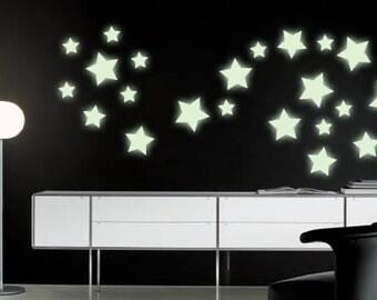 44 Shining Stars - glow in the dark