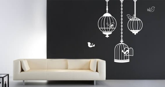 Cuty Bird Cages wall stickers