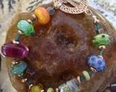 Sherbert Jewels - Lampwork Bracelet