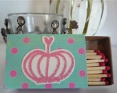 Small Whimsical Crown Matchboxes--FREE SHIPPING--Set of 3