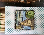 Small Beach Matchboxes--Set of 3--FREE shipping