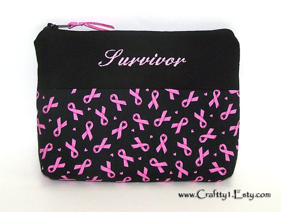 Survivor - Breast Cancer Awareness - Ladies Zip Pouch