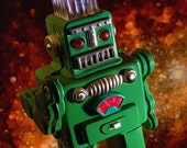 Big Kid Size Smoking Green Robot