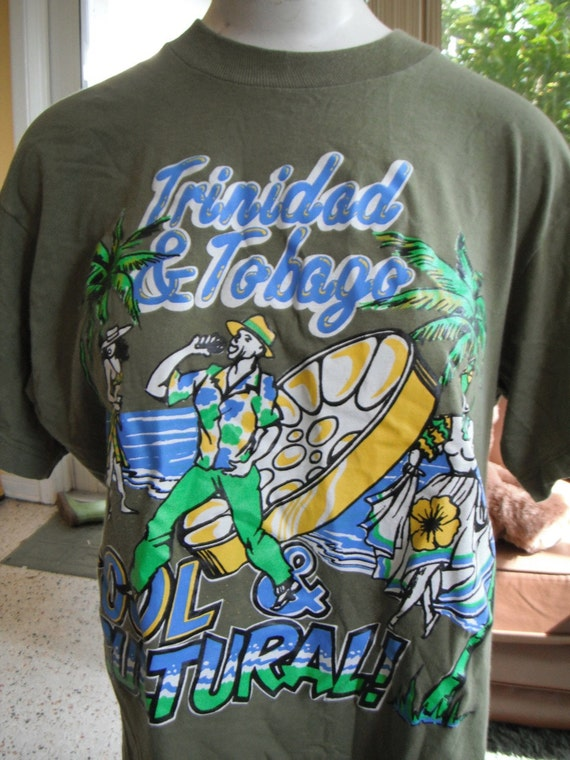 Vintage Trinidad and Tobago t-shirt - green size large