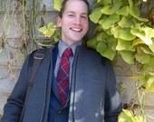 Preppy Red Plaid Wool Tie