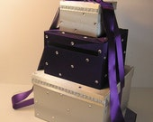Wedding  Card Box Silver and Purple Gift Card Box Money Card Box Holder-CustomizeYour color