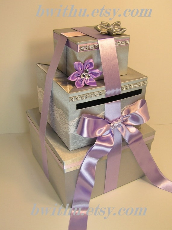 Wedding Card Box Gift Card Box Money Box Holder--Customize your color