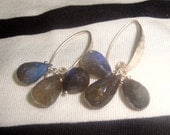 Labradorite Shimmer Sterling Silver Earrings - HALF OFF